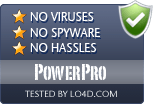PowerPro is free of viruses and malware.