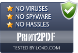 Print2PDF is free of viruses and malware.