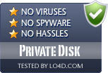 Private Disk is free of viruses and malware.