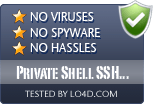 Private Shell SSH Client is free of viruses and malware.