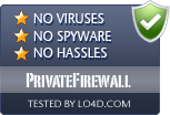 PrivateFirewall is free of viruses and malware.
