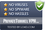 PrivateTunnel VPN Client is free of viruses and malware.