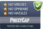 ProxyCap is free of viruses and malware.