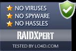 RAIDXpert is free of viruses and malware.