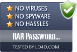RAR Password Recovery is free of viruses and malware.
