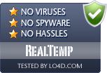 RealTemp is free of viruses and malware.