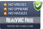RealVNC Free is free of viruses and malware.