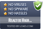 Realtek High Definition Audio Driver is free of viruses and malware.