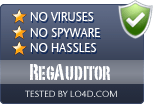 RegAuditor is free of viruses and malware.