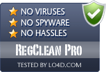 RegClean Pro is free of viruses and malware.