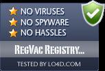 RegVac Registry Cleaner is free of viruses and malware.