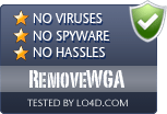 RemoveWGA is free of viruses and malware.