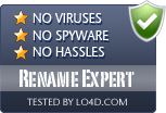 Rename Expert is free of viruses and malware.