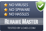 Rename Master is free of viruses and malware.