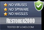 Restorer2000 is free of viruses and malware.