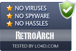 RetroArch is free of viruses and malware.