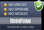 RoboForm is free of viruses and malware.