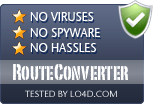 RouteConverter is free of viruses and malware.