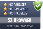S3 Browser is free of viruses and malware.