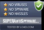 SUPERAntiSpyware Free is free of viruses and malware.