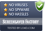 Screensaver Factory is free of viruses and malware.