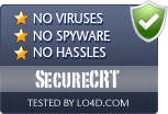 SecureCRT is free of viruses and malware.
