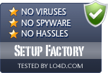 Setup Factory is free of viruses and malware.