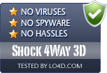 Shock 4Way 3D is free of viruses and malware.
