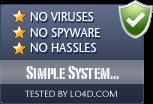 Simple System Tweaker is free of viruses and malware.