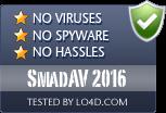 SmadAV 2016 is free of viruses and malware.
