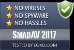 SmadAV 2017 is free of viruses and malware.