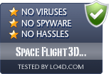 Space Flight 3D Screensaver is free of viruses and malware.