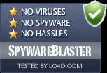SpywareBlaster is free of viruses and malware.