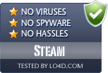 Steam is free of viruses and malware.