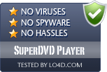 SuperDVD Player is free of viruses and malware.