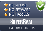 SuperRam is free of viruses and malware.