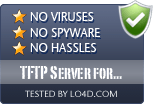 TFTP Server for Windows is free of viruses and malware.