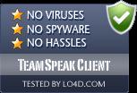 TeamSpeak Client is free of viruses and malware.