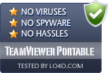 TeamViewer Portable is free of viruses and malware.