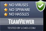 TeamViewer is free of viruses and malware.