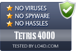 Tetris 4000 is free of viruses and malware.