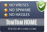 TomTom HOME is free of viruses and malware.