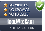 ToolWiz Care is free of viruses and malware.