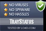 TrayStatus is free of viruses and malware.