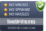 TuneUp Utilities is free of viruses and malware.