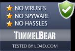 TunnelBear is free of viruses and malware.