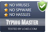 Typing Master is free of viruses and malware.