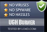 UGH Burner is free of viruses and malware.