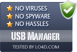 USB Manager is free of viruses and malware.