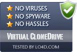 Virtual CloneDrive is free of viruses and malware.